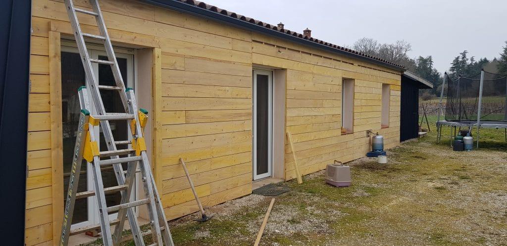 Pendant les travaux Renovation facade