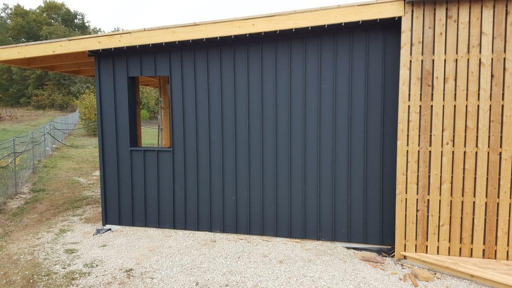 Extension de maison avec ouverture du pignon