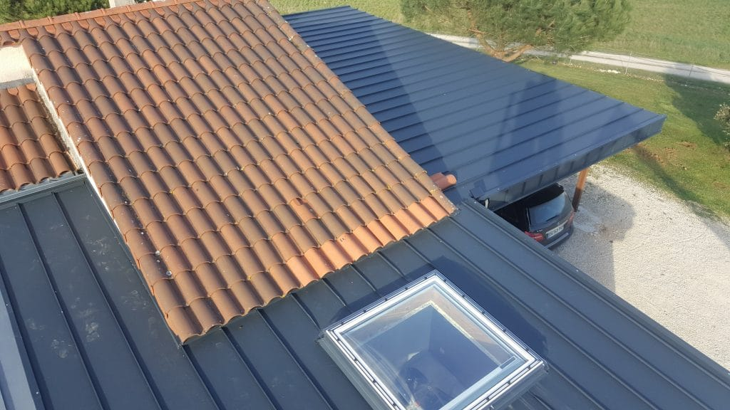 Extension maison cahors couverture aluminium